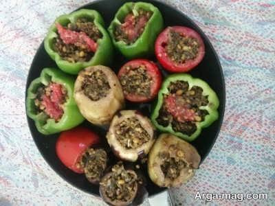 مواد لازم برای پخت دلمه سبزیجات
