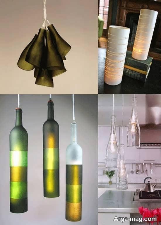 ساخت لوستر با بطری های شیشه ای