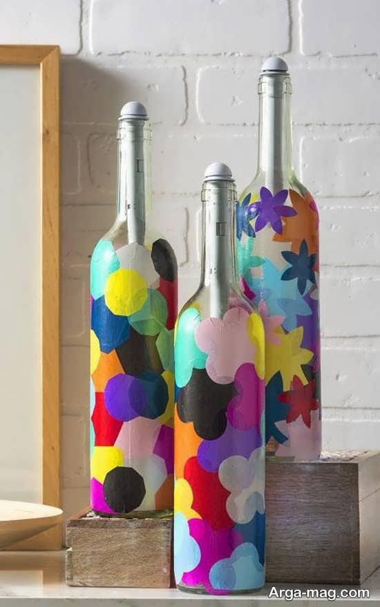 رنگ آمیزی بطری های شیشه ای