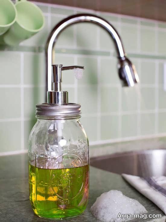 با استفاده از بطری شیشه ای جا مایعی بسازید