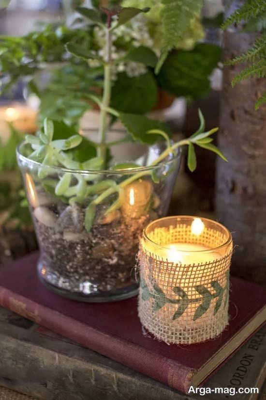 ساخت گلدان و جاشمعی با بطری های شیشه ای