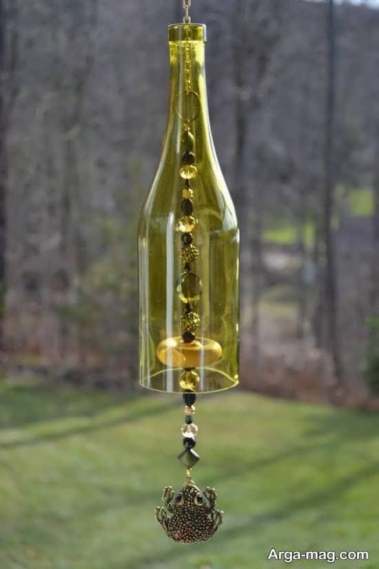 ساخت آویز با بطری شیشه ای