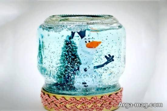 ساخت گوی برفی با بطری های شیشه ای