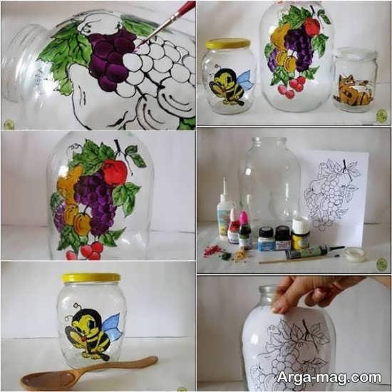 نقاشی های جالب بر روی بطری های شیشه ای