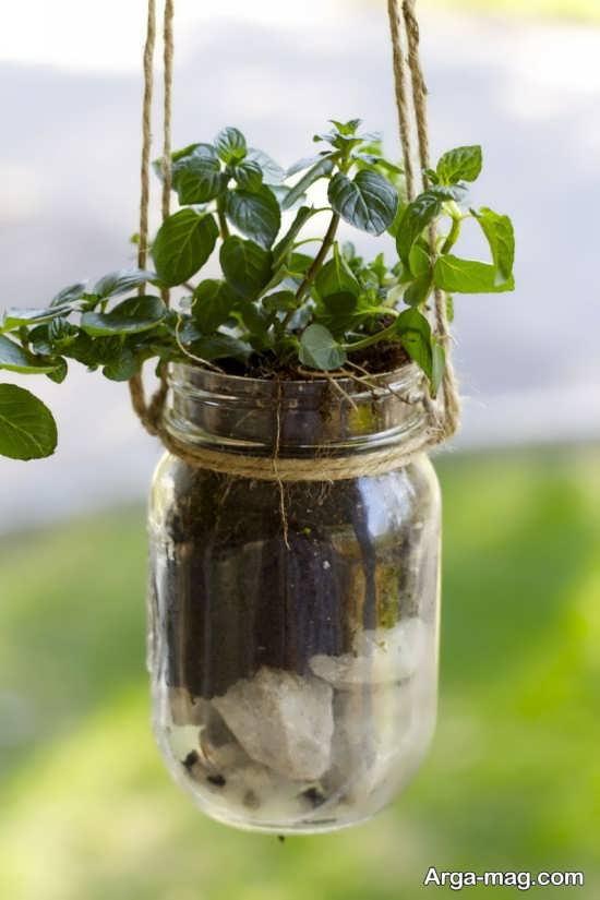 ساخت گلدان شیشه ای با بطری