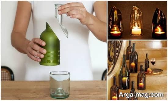 با بطری های شیشه ای کاردستی بسازید