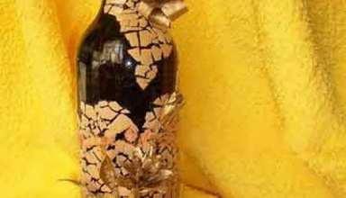 کاردستی با بطری شیشه ای