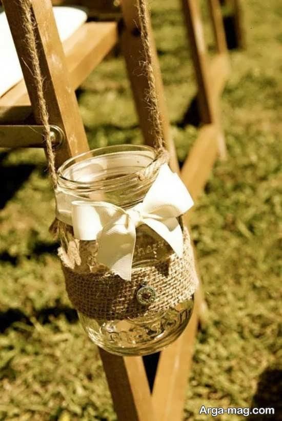 با گونی و کنف از بطری های شیشه ای کاردستی های جالب و جذاب بسازید