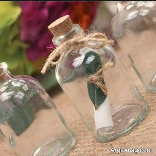 تزیین متفاوت بطری شیشه ای