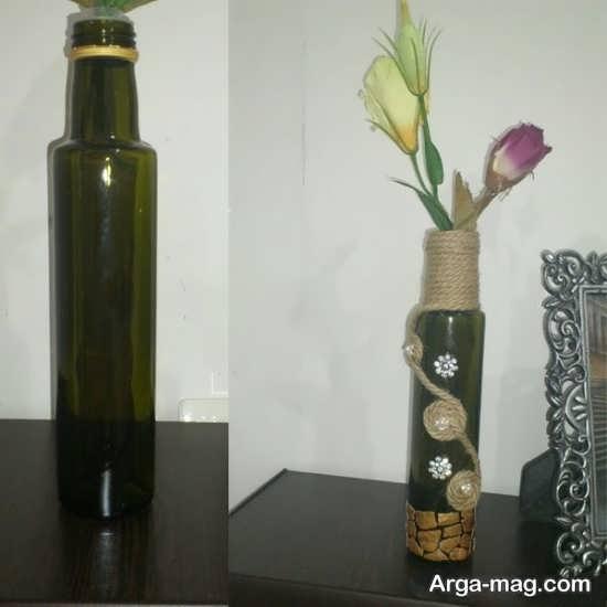 طریقه ساخت گلدان با بطری شیشه ای