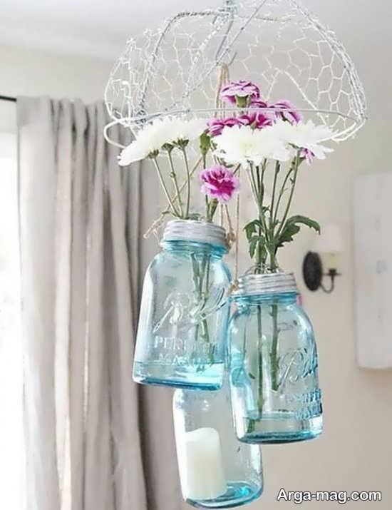 کاردستی جالب با بطری شیشه ای