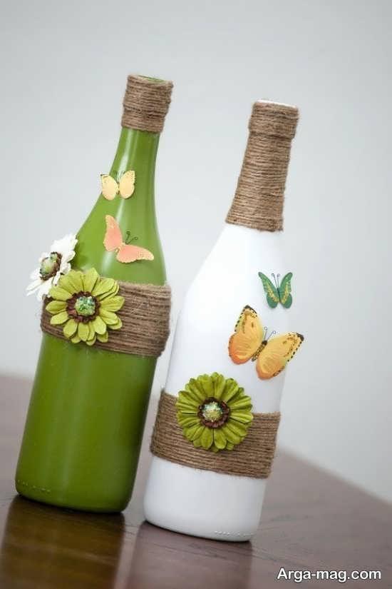 تزیین و طراحی بطری های شیشه ای