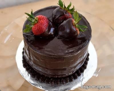 طرز پخت کیک شکلاتی بی بی