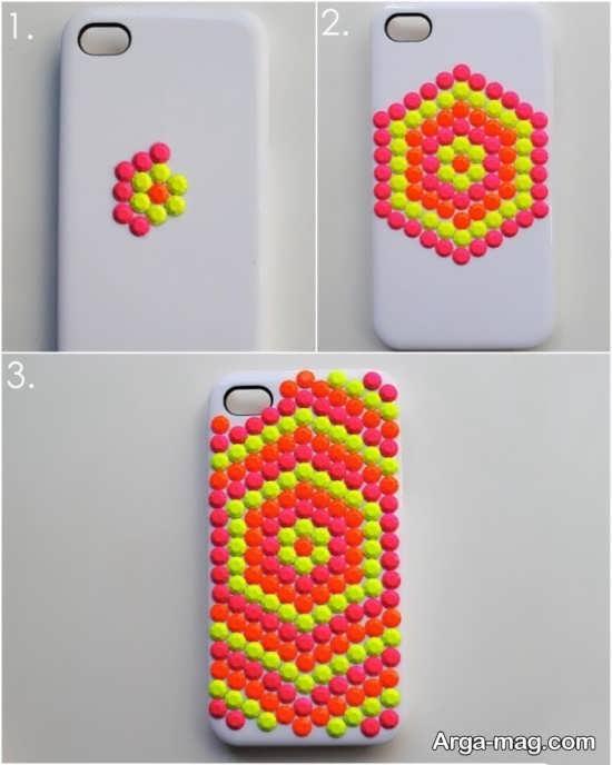 تزیین و طراحی گارد موبایل با استفاده از چسب حرارتی