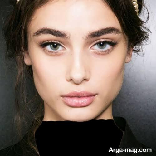 مدل آرایش صورت دخترانه ملایم جدید و زیبا