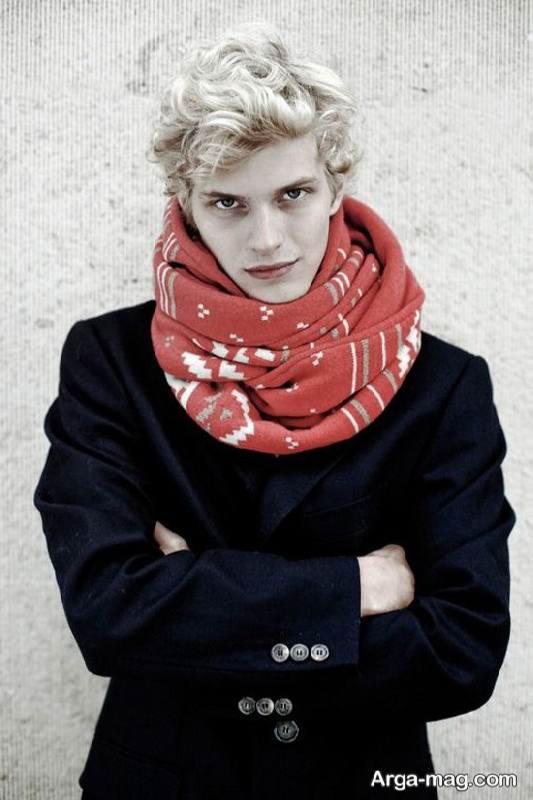 مدل شال گردن طرح دار مردانه