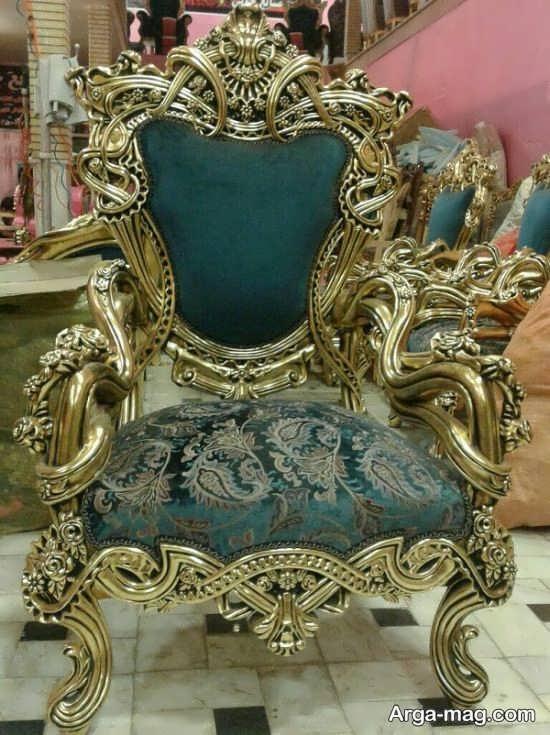 استفاده از رنگ سبز درباری در مبلمان سلطنتی