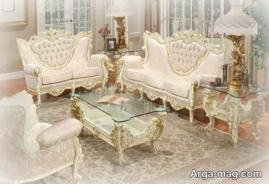 مبلمان سلطنتی به نگ سفید و زیبا