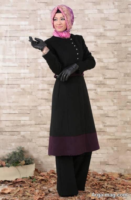 مدل مانتوی بلند و شیک برای خانمهای میانسال