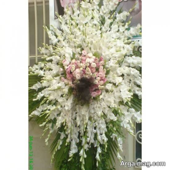 تاج گل های زیبا در مراسمات ختم