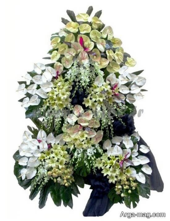 انواع تاج گل بزرگ و کوچک برای مراسم ختم