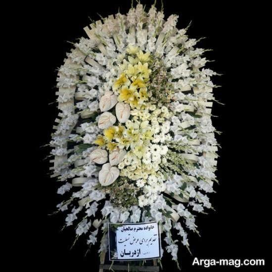 دیزاین گل و تاج گل برای مراسم ترحیم