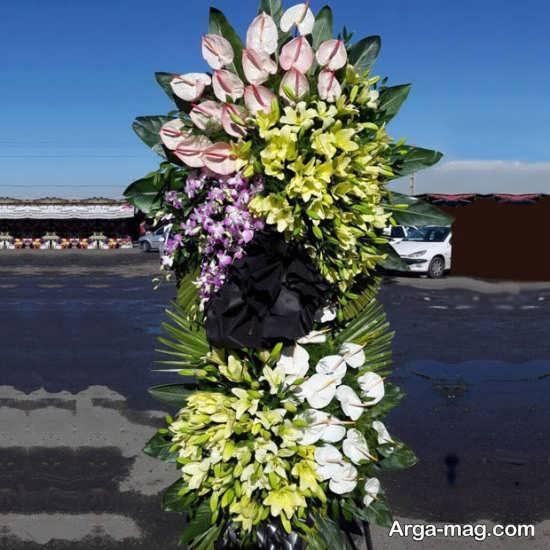 تاج گل مراسم ختم با ایده های تازه و به روز