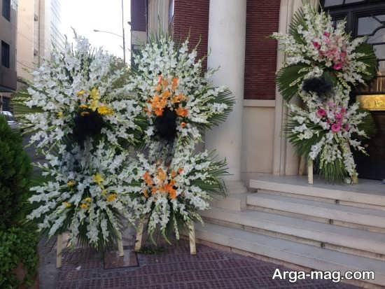 رنگ های کاربردی در تاج گل مراسم ختم