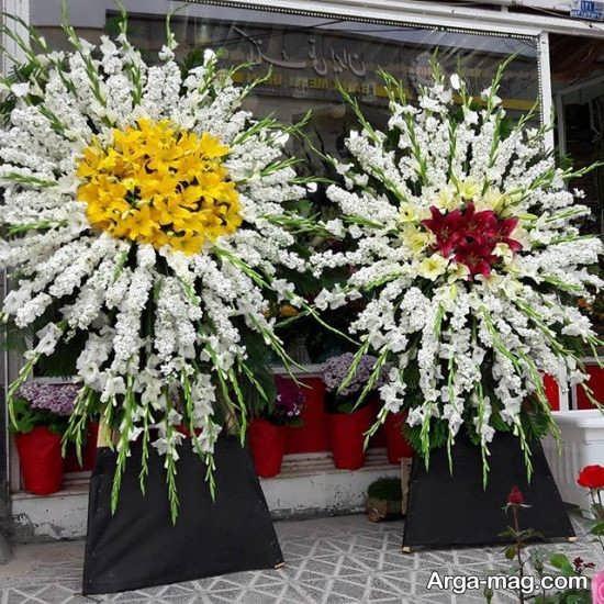 نمونه های زیبا و تازه از انواع تاج گل در مراسمات ختم