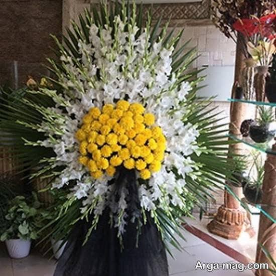 تاج گل های زیبا و جدید در مراسم ترحیم