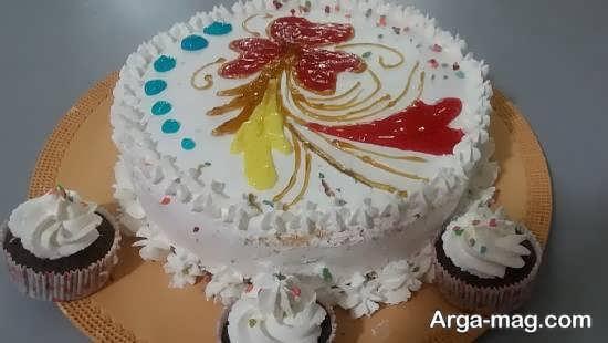 تزیینات کیک خانگی با ایده زیبا