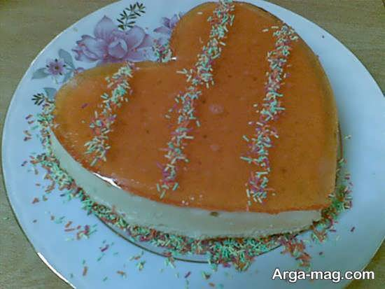 تزیین کیک خانگی مدل قلبی