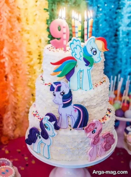کیک تولد برای تم تولد پونی کوچولو