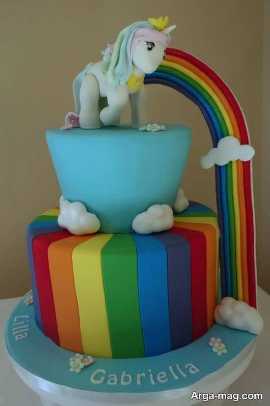 کیک دو طبقه پونی کوچولو
