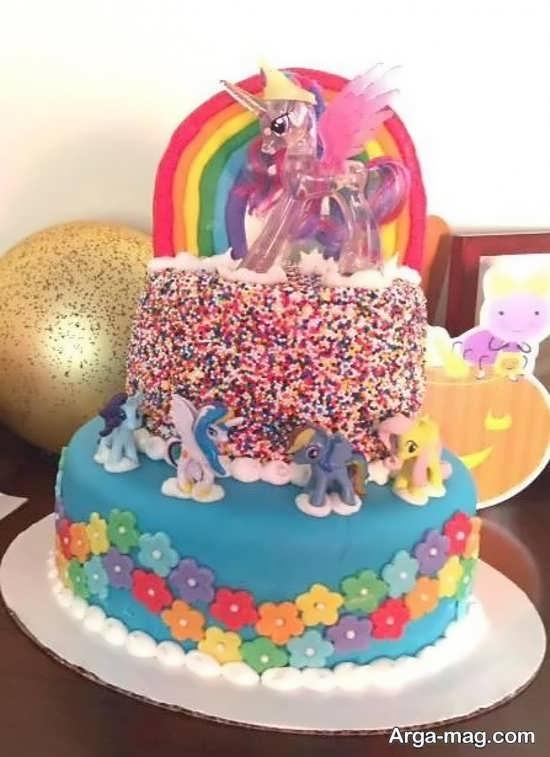 کیک تولد جالب و زیبا با تم پونی کوچولو
