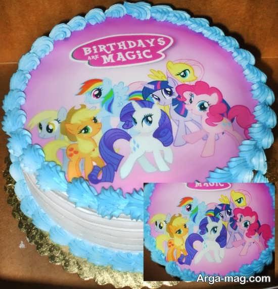 کیک تولد زیبای پونی کوچولو
