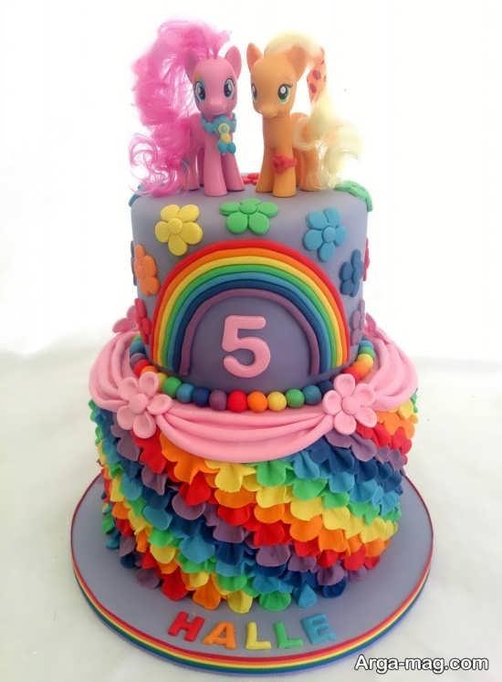 دیزاین کیک تولد برای تم پونی کوچولو