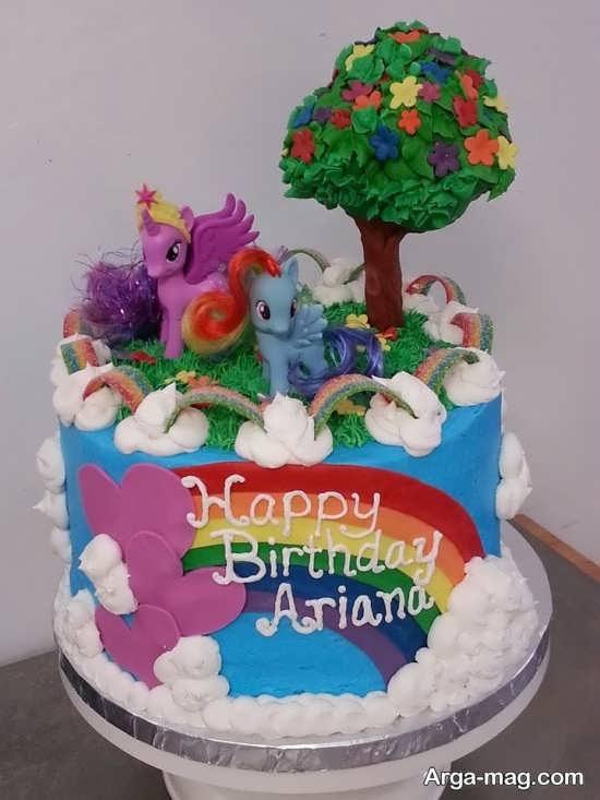 تزیین جذاب کیک تولد با تم پونی کوچولو