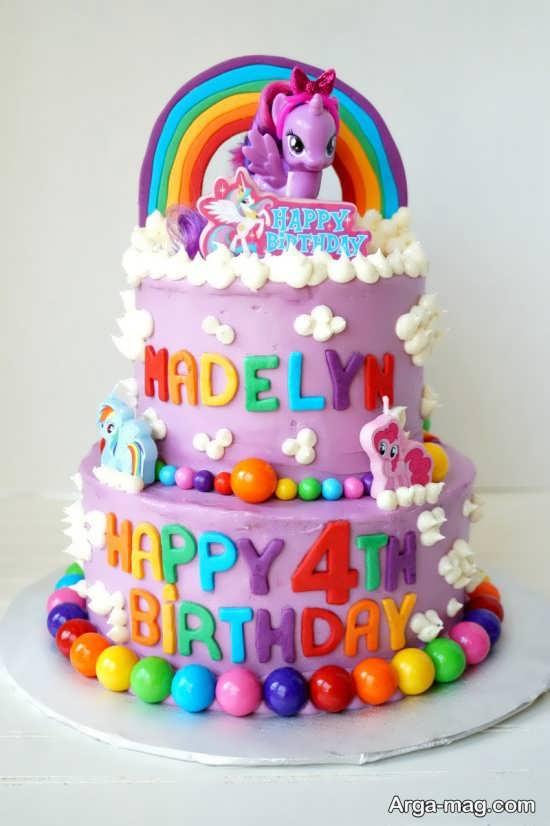 کیک تولد جالب پونی کوچولو