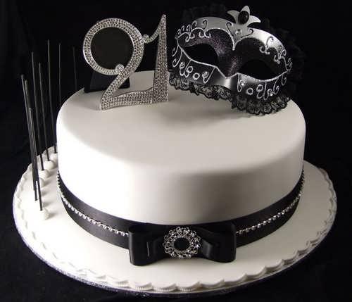تم تولد سفید مشکی با تزیینات زیبا و جالب برای تولد بزرگسالان