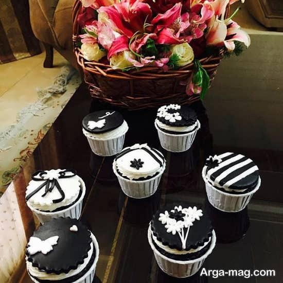 کاپ کیک های سیاه و سفید