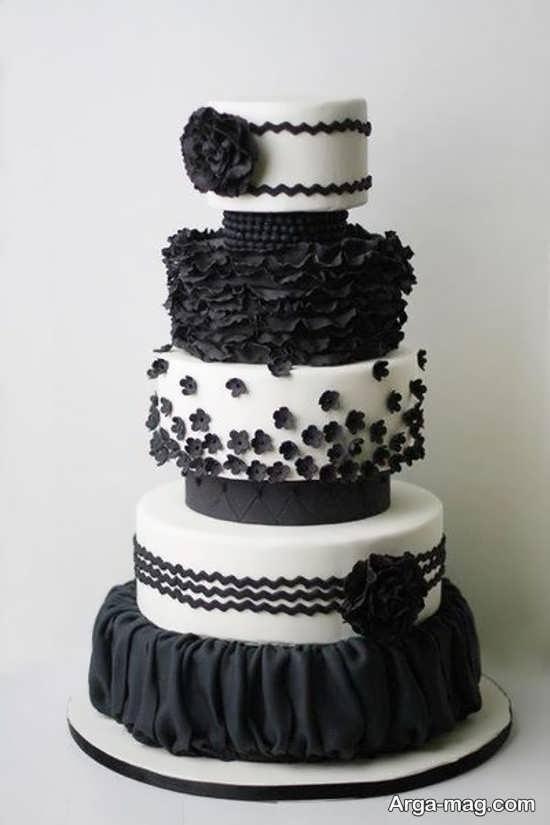 کیک تولد سفید ومشکی
