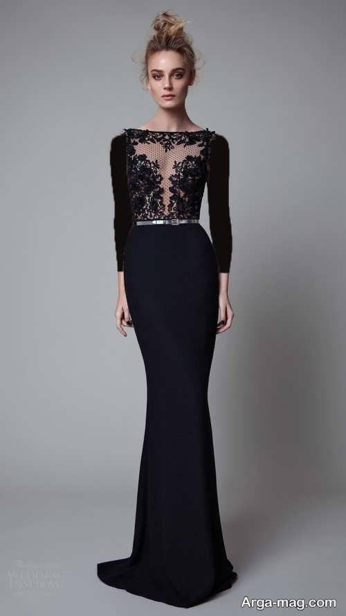 مدل لباس شب کار شده 2018