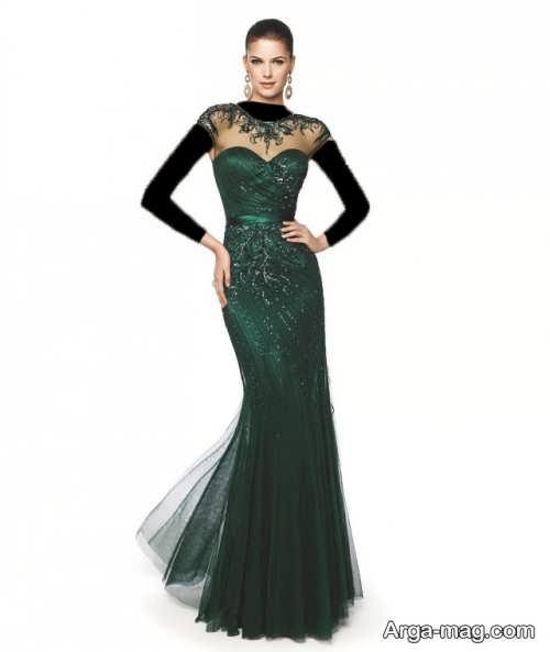 مدل لباس شب کار شده