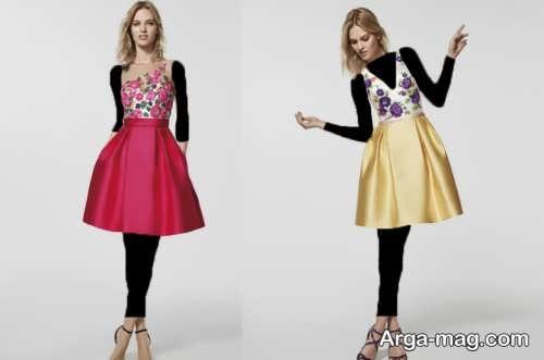 مدل لباس شب 2018 کوتاه و شیک