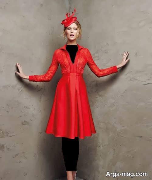 مدل لباس شب 2018 قرمز