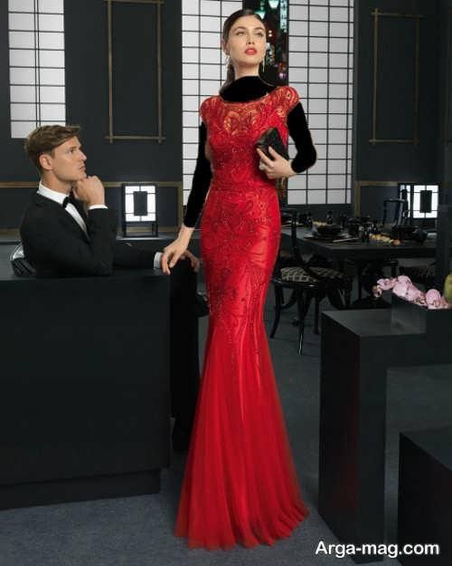 مدل لباس شب بلند و شیک