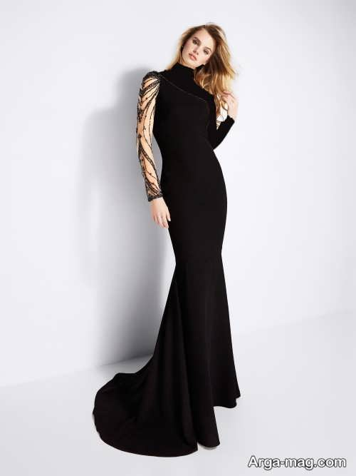 مدل لباس شب مشکی 2018