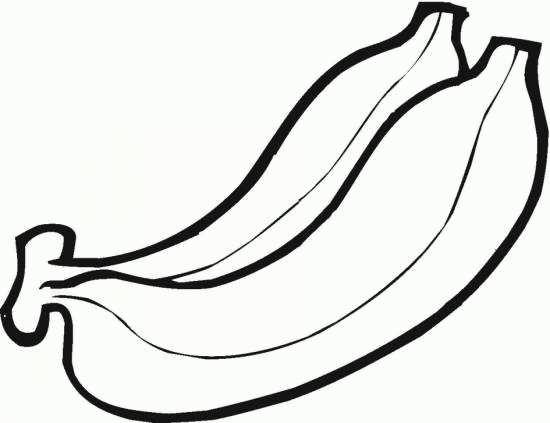 نقاشی ساده موز