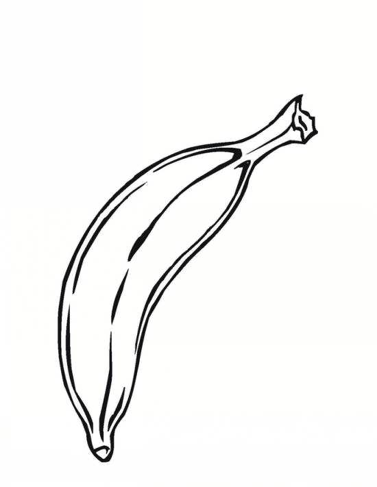 نقاشی موز برای بچه ها